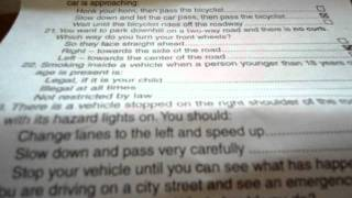 My driving test questions and answers