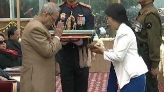 68th Republic Day : President Pranab Mukherjee awards Ashok Chakra(Posthumous) for Havilda
