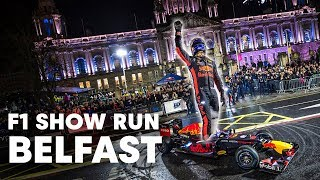 David Coulthard Going Fast In Belfast I Red Bull Racing Show Run