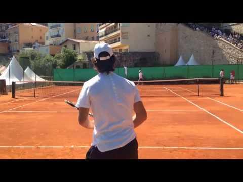 Rafael Nadal hitting with coach Carlos Moya 1 2017 Monte Carlo