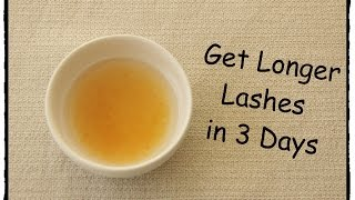 Longer Lashes in 3 days