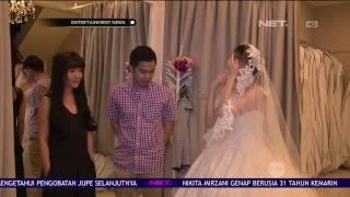 Kezia Karamoy dan Axcel Fitting Gaun Menikah
