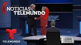 En Vivo: Primer debate presidencial Hillary Clinton y Donald Trump (9/26/2016) | Noticias Telemundo