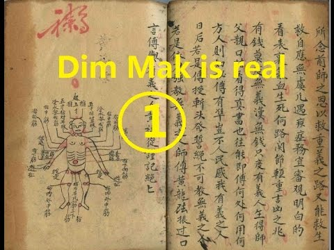Dim Mak (the death touch, touch of death) is real (1) (Liang Yi Dim mak and Shao Lin dim mak)