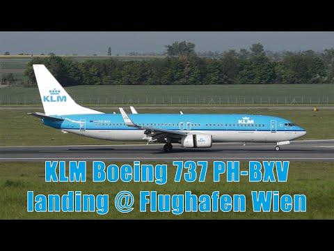 KLM 737 landing @ Flughafen Wien | PH-BXV