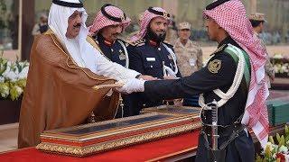 سمو الأمير متعب بن عبدالله يرعى حفل تخرج طلاب كلية الملك خالد العسكرية ١٤٣٨هـ