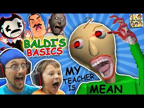 CRAZY SPANKING TEACHER Baldi s Basics in Education & Learning FGTEEV Math Game