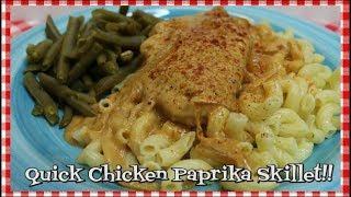 Quick Chicken Paprika Skillet ~ Quick Chicken Paprikas ~ What's For Dinner ~ Noreen's Kitchen