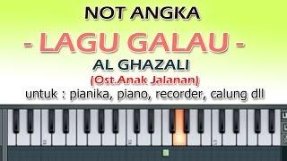 NOT ANGKA   LAGU GALAU   AL GHAZALI   by denny ranch
