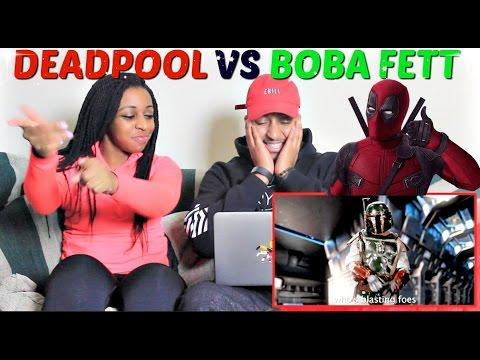Epic Rap Battles of History Deadpool vs Boba Fett REACTION