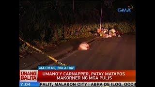 UB: Umano'y carnapper, patay matapos makorner ng mga pulis sa Malolos, Bulacan