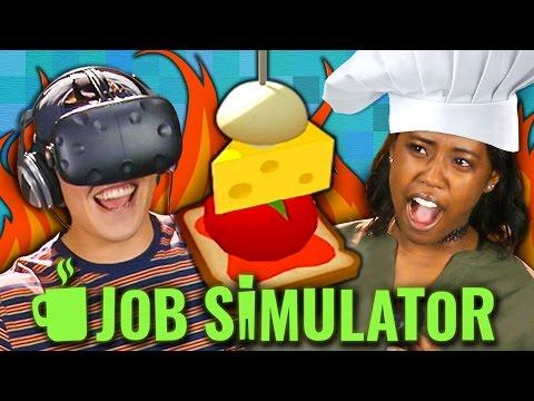 JOB SIMULATOR CHEF VR HTC Vive Teens React Gaming