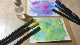How to make easy watercolor backgrounds