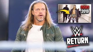 Edge Hiding Some SURPRISING Good News About a WWE Return & His Current Condition? - WWE Raw