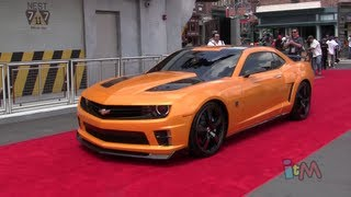 Optimus Prime, Bumblebee, Megatron transform & talk at Transformers grand opening in Orlando