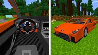 SPORTS CAR LAMBORGHINI in Minecraft Pocket Edition!?!
