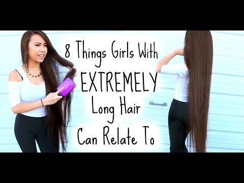 8 Things Girls With Extremely Long Hair Can Relate To