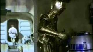 Best Scenes with C3PO and R2D2 from Star Wars episode 4
