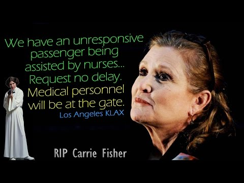 watch [REAL ATC] United w/ CARRIE FISHER onboard - Medical EMERGENCY!