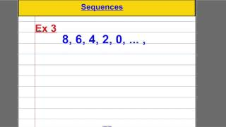Linear Sequences (nth term)