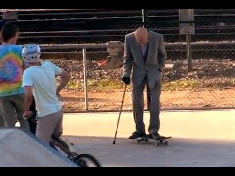 Grandpa Pranks People at Skate Park