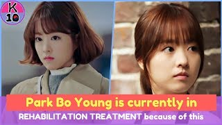 Park Bo Young is currently in REHABILITATION TREATMENT because of this
