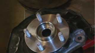 Toyota Prius (2nd Generation) Wheel bearing  removal and installation
