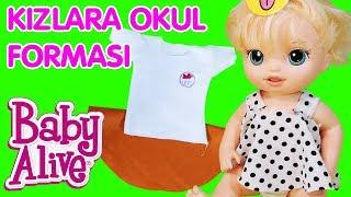 Aylin Selin Baby Alive Blonde Oyuncak Bebek Kızlara Okul Forması    Kendin Yap   Oyuncak Butiğim