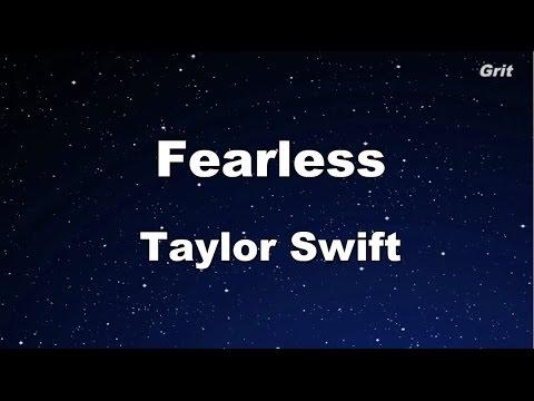 Fearless - Taylor Swift Karaoke【No Guide Melody】