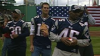 Tom Brady, Patriots throw out first pitch on Opening Day