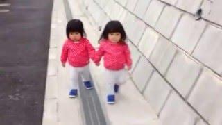 双子のお散歩 1歳10ヶ月
