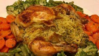 دجاج معمر بالشعرية الصينية ومحمر في الفرن سهل التحضير وروعة روعة في اللذة