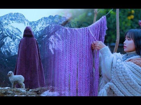 (羊羔毛斗篷 Weave a lamb wool cape for the freezing winter Liziqi Channel