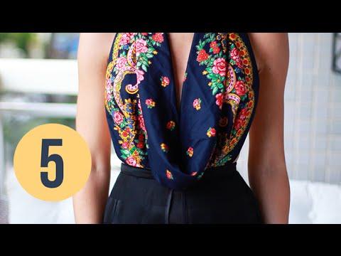 DIY Transforme 1 lenço em 5 blusas