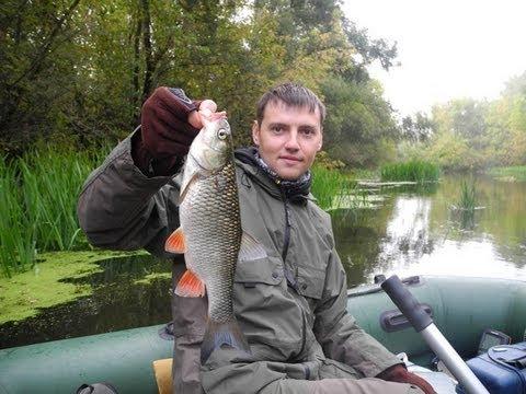 рыбака на реке псел
