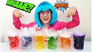 Learn Colors with Colored Water & Dry Ice - Finger Family Nursery Rhymes - Simple Songs