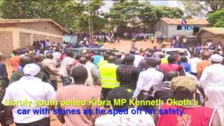 Rowdy youth disrupt unveiling of Raila Odinga education centre in Kibra