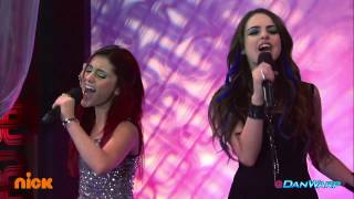 Ariana Grande and Liz Gillies Sing