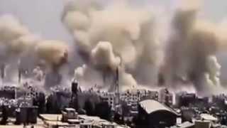قصف الطاغية بشار لدمشق شيئ لن تراه حتى في الافلام