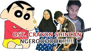 Cewek Jilbab Cantik Nge-ROCK nyanyi Crayon Shincan (Cover Bahasa Indonesia) Syasya Ai Ft Mr.Jom
