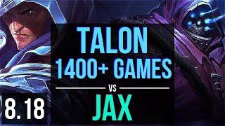 TALON vs JAX (TOP) | 1400+ games, Dominating | EUW Diamond | v8.18