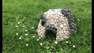 DIY How To Make a Miniature Stone Garden Fairy House