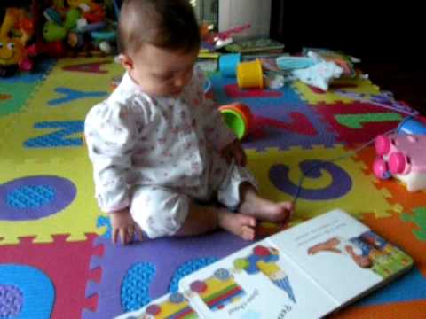 Donya reading her book