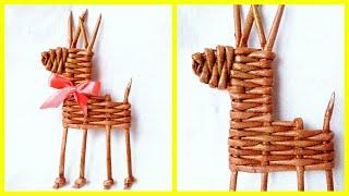 Новогодняя игрушка ОЛЕНЬ своими руками! DIY