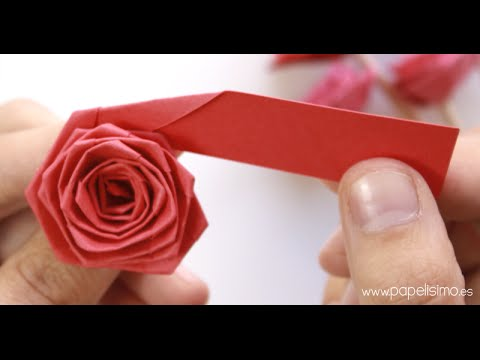 Como hacer una rosa de papel sencilla vidoemo - Como secar una rosa ...