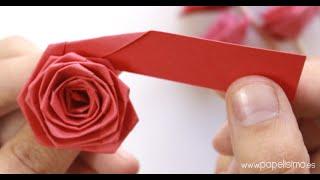 Cómo hacer rosas con una tira de papel (tipo quilling)