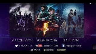 RESIDENT EVIL 4, 5, 6 Trailer (PS4/Xbox One)