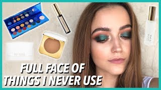 FULL FACE OF MAKEUP I BOUGHT... BUT NEVER USE