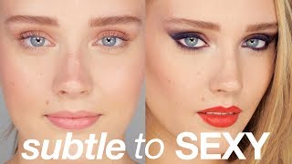 SUBTLE TO SEXY - One Girl, Two Makeup Looks
