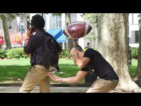 Pinning Balloons on Random People Prank Gone Wrong